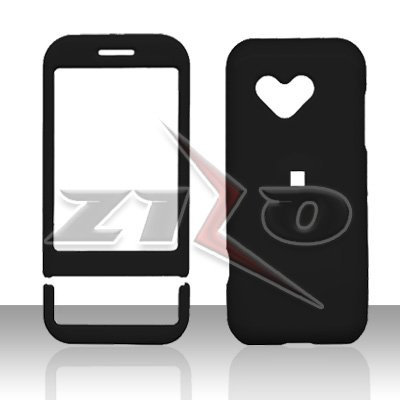 HTC Google G1 Android Black Rubberized Cover Case Snap on Protector