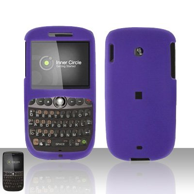 HTC Snap S511 Purple Cover Case Rubberized  Snap on Protector