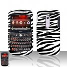 HTC Dash 3G S522 Zebra Cover Case Rubberized  Snap on Protector