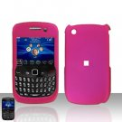 Blackberry Curve 8520 8530 Pink Rubberized Cover Case Snap on Protector