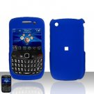 Blackberry Curve 8520 8530 Blue Rubberized Cover Case Snap on Protector