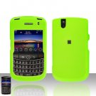 Blackberry Tour 9630 BB Green Rubberized Cover Case Snap on Protector