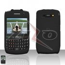 Blackberry Curve 8900 Javelin Black Cover Case Hard Case Snap on Protector
