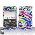 Blackberry Curve 8330 8300 Rainbow Zebra Hard Case Snap on Cover