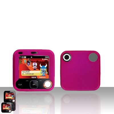 Nokia Twist 7705 Pink Rubberized Cover Case Snap on Protector