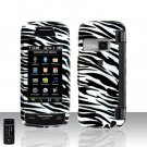 Silver Zebra Cover Case Rubberized  Snap on Protector for LG Voyager LG VX10000