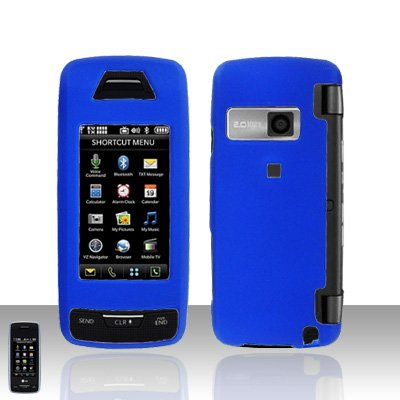 Blue Cover Case Rubberized  Snap on Protector for LG Voyager LG VX10000