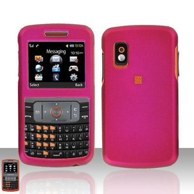 Pink  Cover Case Rubberized  Snap on Protector for Samsung Magnet A257