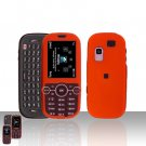 Orange Cover Case Rubberized  Snap on Protector for Samsung Gravity 2 T469