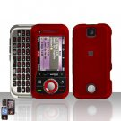 Red Cover Case Hard Snap on Protector for Motorola Rival A455