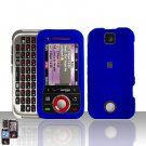 Blue Cover Case Hard Snap on Protector for Motorola Rival A455