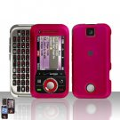Pink Cover Case Hard Snap on Protector for Motorola Rival A455