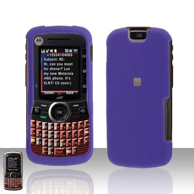 Purple Cover Case Hard Snap on Protector for Motorola Clutch i465