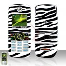 Zebra Cover case Rubberized Hard Case Snap on Protector for Motorola Renew W233