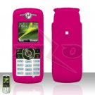 Pink Cover case Rubberized Hard Case Snap on Protector for Motorola Renew W233