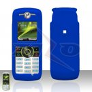 Blue Cover case Rubberized Hard Case Snap on Protector for Motorola Renew W233