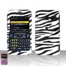 Sanyo 2700 Sprint Zebra Cover Case Rubberized  Snap on Protector