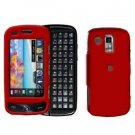 Red Rubberized Cover Case Snap on Protector + Car Charger for Samsung Rogue U960