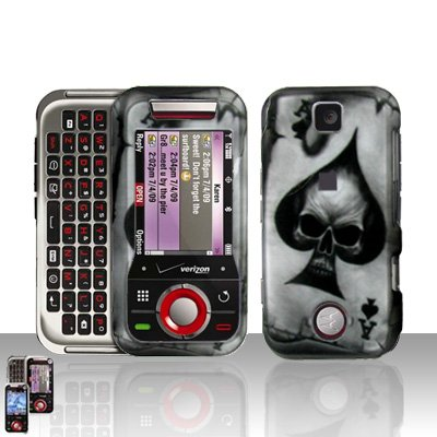 Skull Spade Cover Case Hard Snap on Protector for Motorola Rival A455