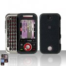 Carbon Fiber Cover Case Hard Snap on Protector for Motorola Rival A455