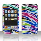 Rainbow Zebra Hard Snap on Case Cover for Apple iPod Touch 2 Touch 3