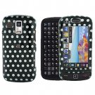 Polka Dots Snap on Cover Case + Mirror LCD Screen Protector for Samsung Rogue U960