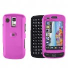 Pink Snap on Cover Case + LCD Screen Guard Protector for Samsung Rogue U960