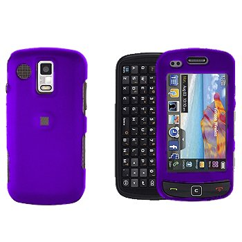 Purple Snap on Cover Case + LCD Screen Guard Protector for Samsung Rogue U960