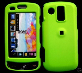 Neon Green Cover Case Snap on Protector + Car Charger for Samsung Rogue U960