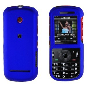 Snap On Case Cover Blue + Car Charger for Motorola Cadbury VE440