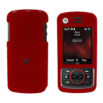 Snap On Case Cover Red + Car Charger for Motorola Debut i856