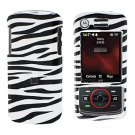 Snap On Case Cover Zebra + Car Charger for Motorola Debut i856