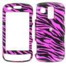 Pink Zebra Snap on Cover Case + LCD Screen Guard Protector for Samsung Rogue U960