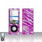 Pink Zebra Snap on Case Cover for Apple iPod Nano 5th Generation Nano 5