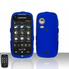 Blue Cover Case Snap on Protector + Car Charger for Samsung Instinct HD M850