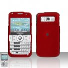 Samsung Code i220 Red Cover Case Snap on Protector + Car Charger