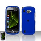 Blue Cover Case Snap on Protector + Car Charger for Samsung Omnia 2 i920