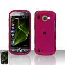 Pink Cover Case Snap on Protector + Car Charger for Samsung Omnia 2 i920