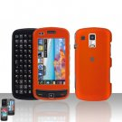 Orange Snap on Cover Case + LCD Screen Guard Protector for Samsung Rogue U960