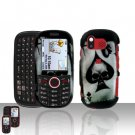 Skull Spade Design Snap on Cover Case + LCD Screen Guard Protector for Samsung Intensity U450