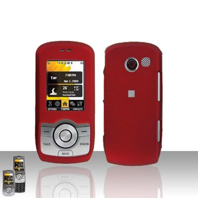 Red Case Cover Snap on Protector + Car Charger for LG Lyric MT375