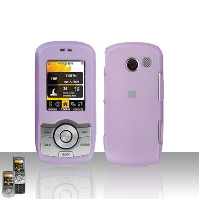 Light Purple Case Cover Snap on Protector + Car Charger for LG Lyric MT375