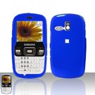 Blue Cover Case Snap on Protector for Samsung Freeform R350 R351
