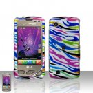 Rainbow Zebra Case Cover Snap on Protector + Car Charger for LG Chocolate Touch VX8575