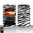 Blackberry Storm II 9550 Zebra Cover Case Snap on Protector + LCD Screen Guard