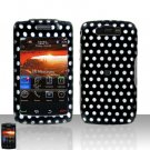 Blackberry Storm II 9550 Polka Dots Cover Case Snap on Protector + LCD Screen Guard