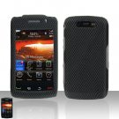 Blackberry Storm II 9550 Carbon Fiber Cover Case Snap on Protector + LCD Screen Guard