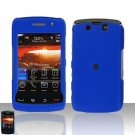 Blackberry Storm II 9550 Blue Cover Case Snap on Protector + Car Charger