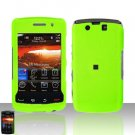Blackberry Storm II 9550 Neon Green Case Snap on Protector + Car Charger
