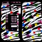 Rainbow Zebra Cover Case Snap on Protector for Samsung Alias 2 U750